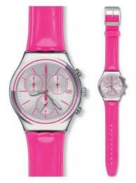 【当店1年保証】スウォッチSwatch Irony Chrono PROUD TO BE PINK Watch YCS587