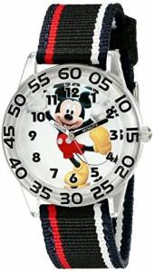 【当店1年保証】ディズニーDisney Kids' W001944 Mickey Mouse Analog Watch with Black Band