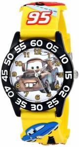 """【当店1年保証】ディズニーDisney Kids' W001508 """"Time Teacher"""" Cars Watch With Yellow 3-D Band"""