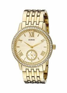 【当店1年保証】ゲスGUESS Women's U0573L2 Classic Gold-Tone Watch with Genuine Crystals