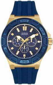 【当店1年保証】ゲスGUESS Men's U0674G2 Sporty Gold-Tone Stainless Steel Watch with Multi-function D