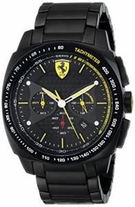 【当店1年保証】フェラーリFerrari Men's 0830162 Aero Evo Analog Display Quartz Black Watch