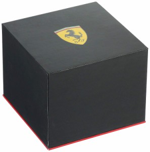 【当店1年保証】フェラーリFerrari Men's 0830275 Formula Italia S Stainless Steel Watch with Black