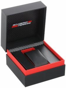 【当店1年保証】フェラーリFerrari Men's 0830038 Analog Display Japanese Quartz Black Watch