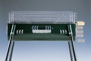 バーベキュー 網 鉄板 バーベキューグリル キャプテンスタッグ 5段階調節機能付