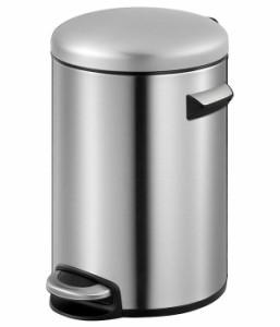 EKO イーケーオー ステンレス製ゴミ箱 ダストボックス セリーヌ ステップビン 8L シルバー EK9214MT-8L