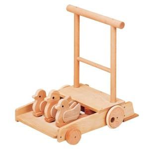 カタカタ 手押し車 赤ちゃん 木製 日本製 カタカタ 手押しおもちゃ