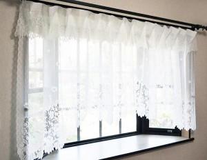 出窓用 レースカーテン 出窓 幅300cm 出窓用カーテン レース おしゃれ