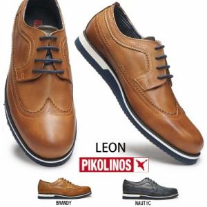 【即納】ピコリノス 靴 メンズ カジュアルシューズ M0K-4208 ウィングチップ PK322 ドレスカジュアル ビジネス PIKOLINOS Leon