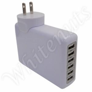 【メール便送料無料】 hTC EVO 3D ISW12HT USB口6個の ACアダプター 充電器 超大容量の4.0A/h! エボ3D