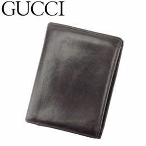 18e8c93d23ff グッチ GUCCI カードケース 名刺入れ パスケース メンズ ロゴ 【中古】 Q480