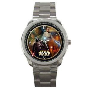 """""""【送料無料】腕時計スターウォーズdarth vadarオビ1スポーツstar wars  darth vadar and young obi wan on a silver sports watch"""""""