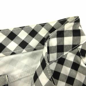 セシルマクビー CECIL McBEE パンツ ロング チェック スリム ストレッチ 黒 白 S レディース ベクトル【中古】