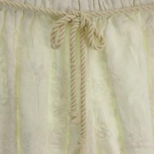 ティティレートヴァレット Titilate Valet パンツ キュロット ショート ウエストゴム 刺繍 リネン混 オフ白 M レディース