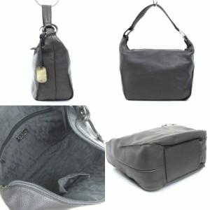 フルラ FURLA セミショルダー バッグ ハンド レザー グレー 鞄 レディース