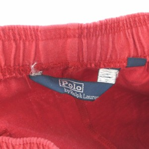 ポロ バイ ラルフローレン Polo by Ralph Lauren ハーフ パンツ イージー ズボン ライン ポニー 刺繍 赤 120 キッズ 子供服