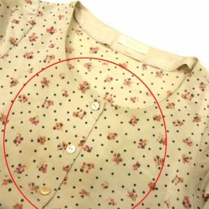 クローラ crolla シャツ ワンピース ひざ丈 花柄 ドット 七分袖 ベージュ系 36 レディース ベクトル【中古】