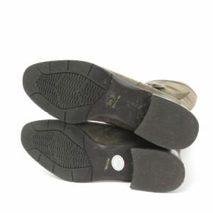 リズラフィーネ Riz raffinee ロング ブーツ スエード ベルト ブラウン 茶 23.5 シューズ 靴 レディース ベクトル【中古】