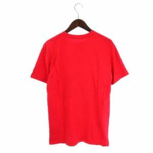 ナイキ NIKE Tシャツ カットソー 半袖 クルーネック プリント ロゴ 赤 レッド系 L メンズ ベクトル【中古】