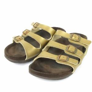 ビルケンシュトック BIRKENSTOCK サンダル フラット メタリック 茶系 35 シューズ 靴 レディース ベクトル【中古】