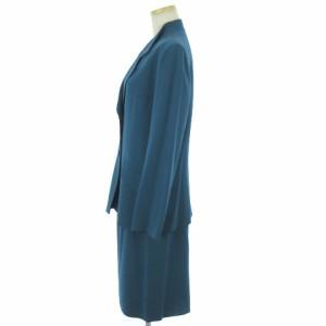 ピエールカルダン Pierre Cardin スーツ セットアップ スカート テーラード ブルー 青 9 レディース ベクトル【中古】
