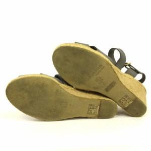 アンドレア アース andre assous サンダル レザー クロス ストラップ ウエッジソール グレー系 6 靴 レディース ベクトル【中古】