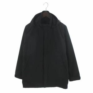 無印良品 良品計画 ジャケット ジャンパー ウインドブレーカー フード Wジップ 黒 ブラック S メンズ ベクトル【中古】