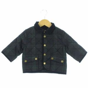 3b300a082e921 未使用 ラルフローレン ジャケット 中綿 ジャンパー 長袖 ブラックウォッチ 紺 緑 80 ベビー服 キッズ アウター
