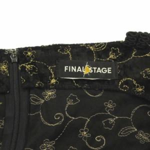 ファイナルステージ FINAL STAGE キャミソール ワンピース ミニ ベロア風 レース 刺繍 ブラック 黒 39 レディース ベクトル【中古】