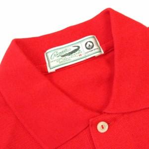 クロコダイル CROCODILE ポロシャツ 半袖 鹿の子 ワンポイント コットン レッド 赤 M メンズ ベクトル【中古】