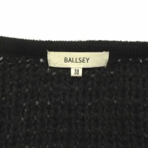 ボールジー BALLSEY トゥモローランド ニット カーディガン 長袖 スパンコール 装飾 ブラック系 黒系 38 レディース ベクトル【中古】