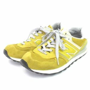 20ae757a9ebd6 ニューバランス NEW BALANCE スニーカー ML574VMU スエード イエロー 黄色 27 シューズ 靴 メンズ