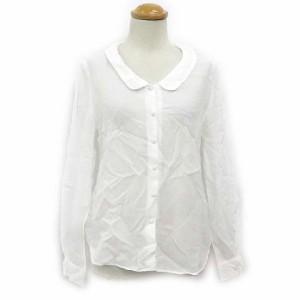 ノーリーズ Nolley's シャツ ブラウス 長袖 ラウンドカラー 無地 白 ホワイト 180104 レディース ベクトル【中古】