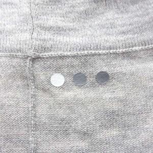 スリードッツ three dots カーディガン ニット 七分袖 前開き 羽織り ウール 無地 グレー 180220 レディース ベクトル【中古】