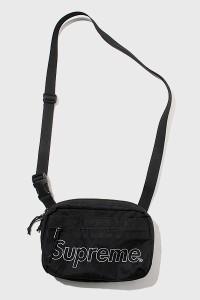 【中古】2018AW SUPREME シュプリーム Shoulder Bag ショルダーバッグ Black 黒/● メンズ