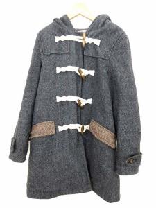 ハリスツイード Harris Tweed ジャケット コート ダッフル  フード付 ウール混 グレー M ■CA 0814 ベクトル【中古】