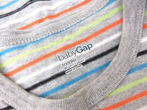 ギャップ GAP タンクトップ ボーダー柄 95 子供服 グレー 0824 【中古】 ベクトル【中古】