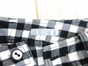 ザジ ZAZIE パンツ クロップド チェック 黒 白 1 レディース ベクトル【中古】