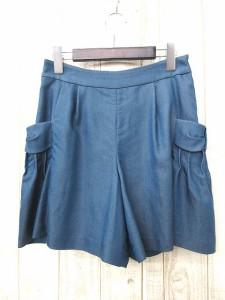 クチュールブローチ Couture brooch パンツ ハーフ フレア ポケットデザイン 38 青 1107 レディース ベクトル【中古】