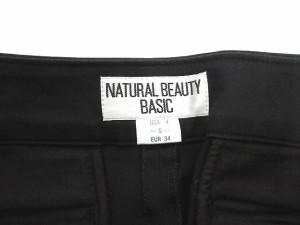 ナチュラルビューティーベーシック NATURAL BEAUTY BASIC カプリパンツ サブリナ コットン 黒 S 0414 レディース