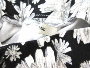 ミスティック mystic ショートパンツ 花柄 黒×白 0708 LEK レディース ベクトル【中古】