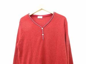 グローバルワーク GLOBAL WORK カットソー Tシャツ 長袖 ウール混 L 赤 0815 メンズ ベクトル【中古】
