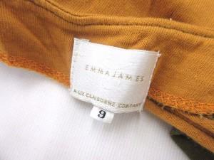 エマジェイムス EMMAJAMES カーディガン 七分袖 コットン 9 Mサイズ 黄 カーキ 0829 レディース ベクトル【中古】