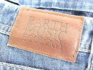アースミュージック&エコロジー EARTH MUSIC & ECOLOGY ショートパンツ ジーンズ USED加工 2 Mサイズ 青 0902 レディース
