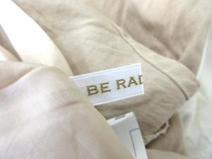 ビーラディエンス BE RADIANCE ワンピース 膝丈 半袖 フレア リボン F ベージュ 白 1017 レディース ベクトル【中古】