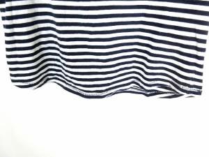 ザラ ZARA カットソー Tシャツ 半袖 ボーダー コットン ネイビー 白 M ◎ 1028 レディース ベクトル【中古】