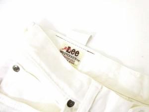 リー LEE デニムパンツ カラージーンズ コットン 白 31×31 ◎ 1102  メンズ ベクトル【中古】
