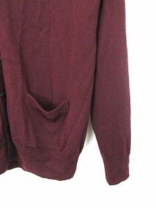 レイジブルー RAGEBLUE  ニットカーディガン Vネック 長袖 薄手 size M ボルドー LEK メンズ ベクトル【中古】