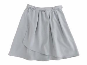 YOLO スカート 膝丈 ラップ ギャザー グレー size 36 EAA 0329 レディース ベクトル【中古】
