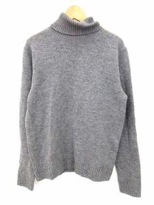 無印良品 良品計画 ニット セーター 長袖 タートル ウール グレー S 0430 メンズ ベクトル【中古】